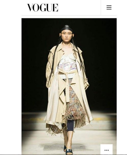 Ngày đầu ra quân tại London Fashion Week, Kim Nhung chễm trệ xuất hiện trên tạp chí Vogue danh giá - 1