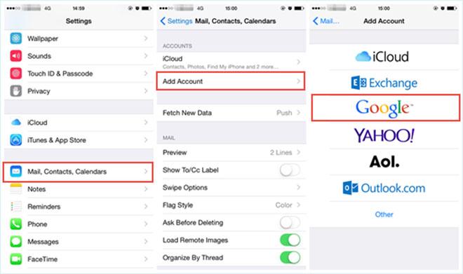 Ba cách chuyển địa chỉ liên hệ từ Android sang iPhone - 4