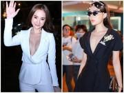 """Kỳ Duyên, Angela Phương Trinh lại """"quên nội y"""" khi mặc vest"""