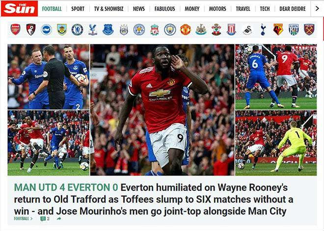 MU đại thắng 4 sao: Báo Anh thán phục Mourinho, ca ngợi Lukaku - 3