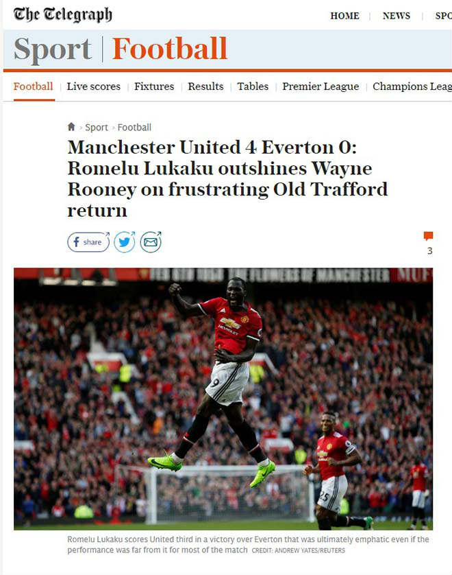 MU đại thắng 4 sao: Báo Anh thán phục Mourinho, ca ngợi Lukaku - 6