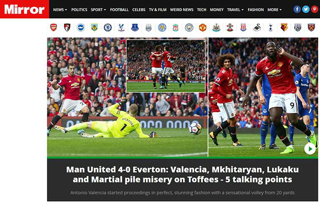 MU đại thắng 4 sao: Báo Anh thán phục Mourinho, ca ngợi Lukaku - 7