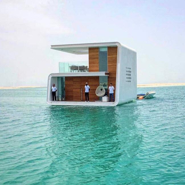 Biệt thự nổi trên biển ở ngoài khơi thành phố Dubai.