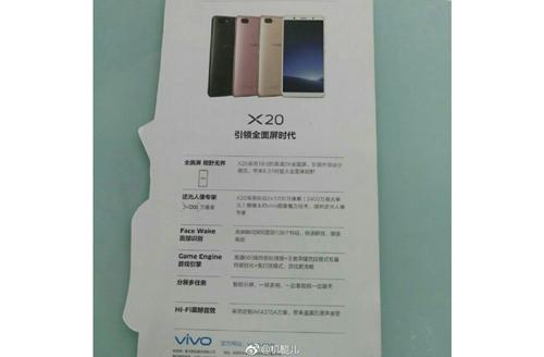 Lộ thông số của smartphone tầm trung Vivo X20 - 1