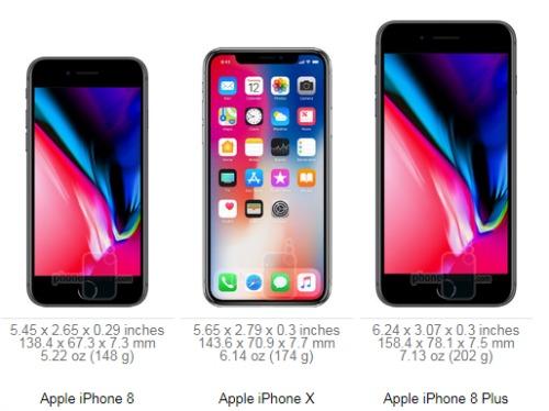 10 sự khác biệt giữa iPhone X và iPhone 8/ iPhone 8 Plus - 1