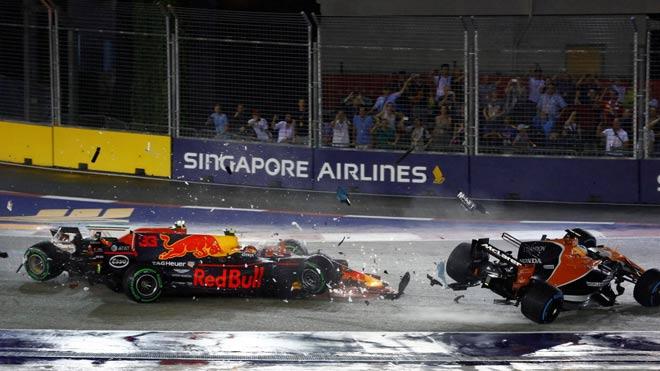 """Đua xe F1, Singapore GP: """"Ngựa chiến"""" tự sát, """"Mũi tên bạc"""" chạm vinh quang - 1"""