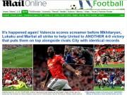 Bóng đá - MU đại thắng 4 sao: Báo Anh thán phục Mourinho, ca ngợi Lukaku