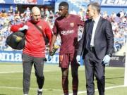 Barca mất Dembele 4 tháng: Tiết kiệm 10 triệu euro, Messi làm quân sư