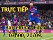 TRỰC TIẾP Barcelona - Eibar: Phạt đền tranh cãi, Messi mở tỷ số