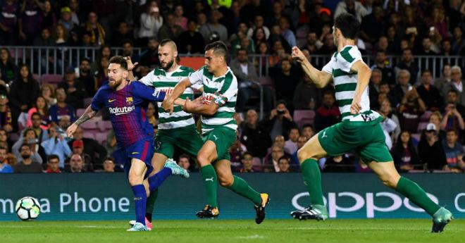 """Messi 9 bàn/5 trận: Báo chí thế giới choáng váng, gọi là """"vị Thần"""" ở Barca - 1"""