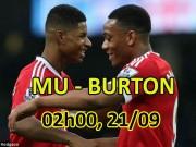 """MU – Burton Albion: """"Quỷ biến hình"""" phô trương sức mạnh"""