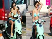Ngôi sao Selena Gomez chạy Vespa đốn tim cánh mày râu