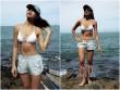 Khoe hình bikini, ứng viên nặng ký Hoa hậu Hoàn vũ lộ miếng dán ngực kém duyên