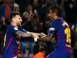 """Barca thăng hoa: """"Người đẹp"""" Messi xứng đôi """"quái vật"""" Paulinho"""