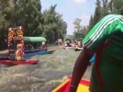 Động đất khiến cả dòng sông lắc lư chao đảo ở Mexico