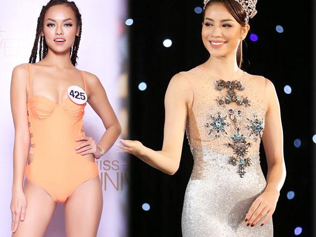 Cận cảnh phần thi áo tắm sexy của thí sinh Hoa hậu Hoàn vũ VN - 9