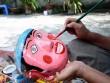 Làng làm đồ chơi trung thu ở Hưng Yên tất bật vào mùa