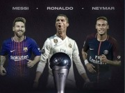 Quả bóng Vàng FIFA: Neymar 200 triệu euro chờ hạ bệ Ronaldo, Messi