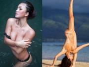 """""""Ngây dại"""" vì đường cong uyển chuyển như sóng của mỹ nữ yoga sexy nhất thế giới"""