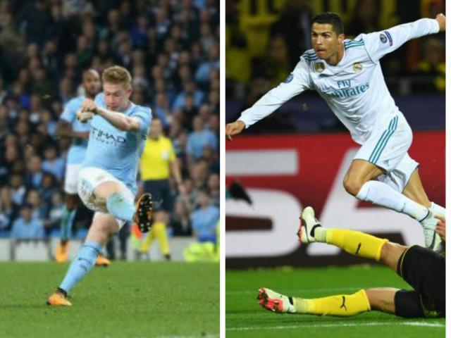 """Tuyệt tác cúp C1: """"Đại bác"""" De Bruyne đấu Ronaldo ra chân thần tốc"""