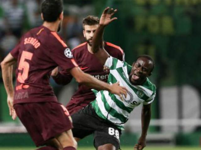 """Sporting Lisbon - Barcelona: Thần May mắn làm """"Người phán xử"""""""