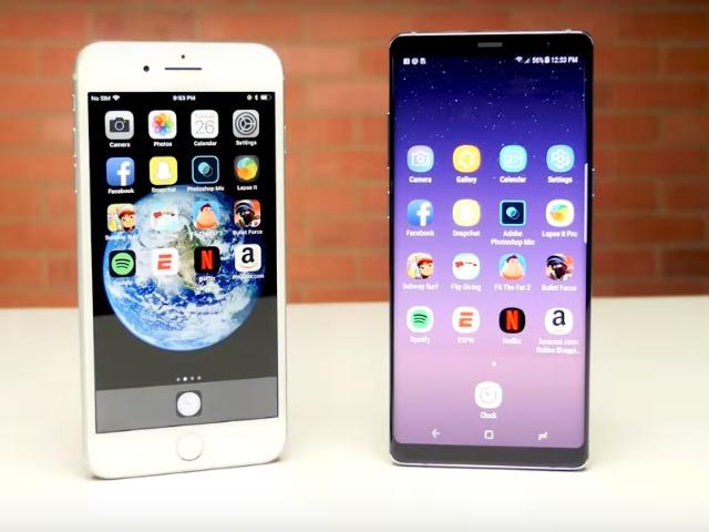 Đọ tốc độ iPhone 8 Plus và Galaxy Note 8: Ai nhanh hơn?