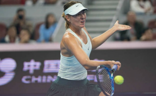 Sharapova - Sevastova: Siêu kịch tính 3 tiếng, 2 màn đấu súng (Vòng 1 China Open) - 1