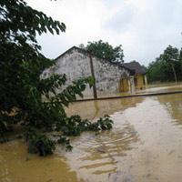 Những hình ảnh về lũ dữ ở Hương Sơn