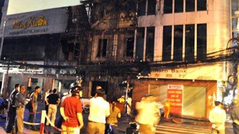 Cháy lớn tại ngân hàng Phương Nam - 1