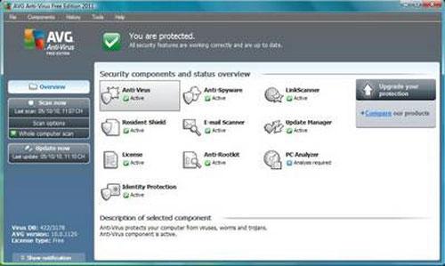 Miễn phí phần mềm AVG Antivirus Free Edition 2011 - 1