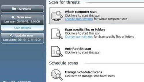 Miễn phí phần mềm AVG Antivirus Free Edition 2011 - 2