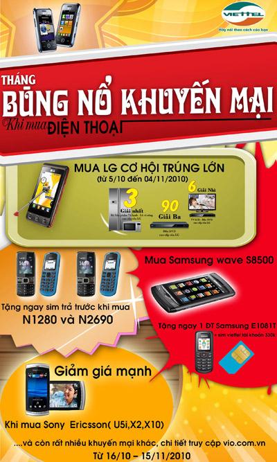 Tháng khuyến mại laptop, điện thoại tại hệ thống siêu thị Viettel. - 1