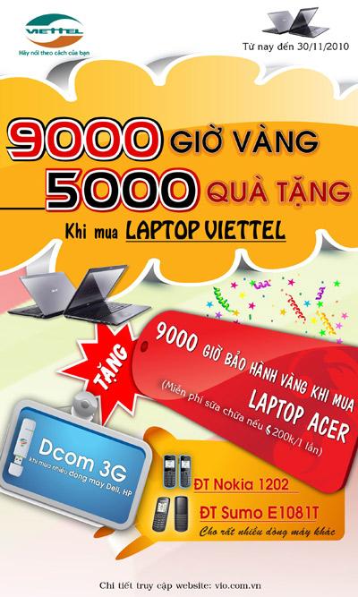 Tháng khuyến mại laptop, điện thoại tại hệ thống siêu thị Viettel. - 2