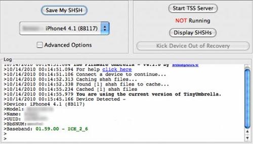 Nâng cấp iOS 4.0 lên iOS 4.1 mà không cần baseband - 3
