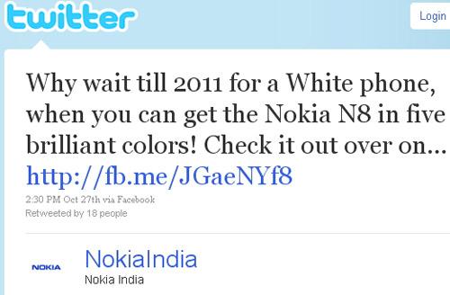 """Nokia khoe """"màu sắc rực rỡ"""" của N8 chế nhạo iPhone 4 màu trắng - 1"""