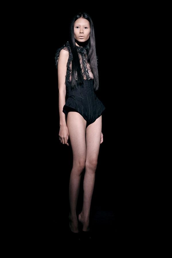 Váy ren đen gợi cảm cho phụ nữ châu Á - 9