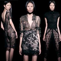 Váy ren đen gợi cảm cho phụ nữ châu Á