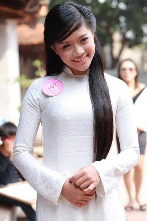 Top 20 Miss Teen tinh khôi với Áo dài trắng - 5