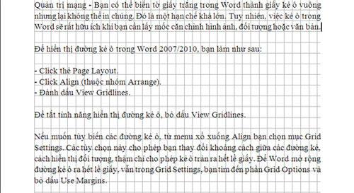 Hướng dẫn kẻ ô vuông trong Word - 1
