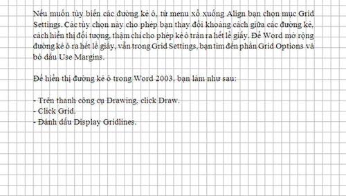 Hướng dẫn kẻ ô vuông trong Word, Tin học văn phòng, Công nghệ thông tin, Huong dan ke o vuong trong Word, tin hoc van phong, ke o vuong trong Word, Word, ke o vuong, may tinh, thu thuat, Word 2007,