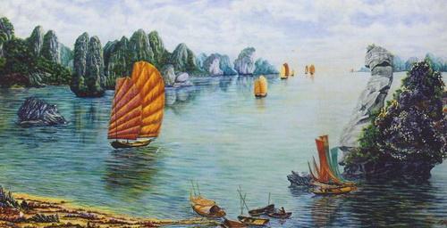 Kỷ lục Việt Nam: Bức tranh gắn đá quý trên vải toan nguyên khổ lớn nhất - 2