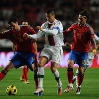 Video Bồ Đào Nha - Tây Ban Nha: Derby không cân sức