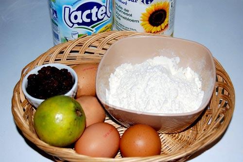 Bánh bông lan nho khô - 1