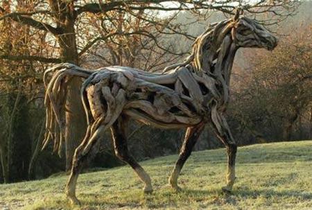 Động vật được điêu khắc bằng... gỗ - 5