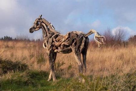 Động vật được điêu khắc bằng... gỗ - 6