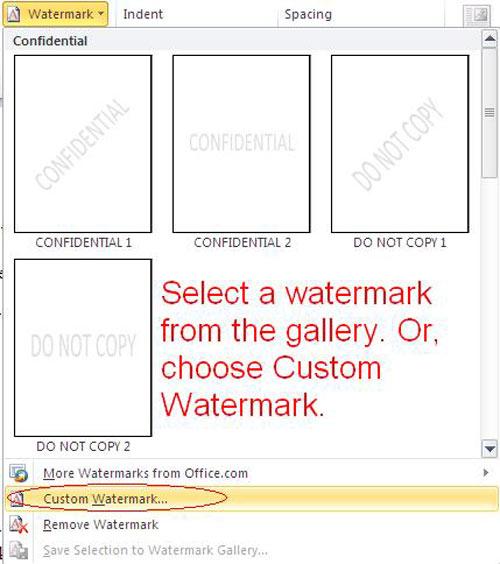 Chèn watermark vào tài liệu word, Tin học văn phòng, Công nghệ thông tin, Chen watermark vao tai lieu Word, watermark, chen watermark, tai lieu word, vi tinh, tin hoc, internet, doan van