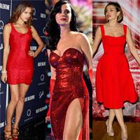 Mặc váy đỏ để gợi cảm như Sao mùa Giáng sinh