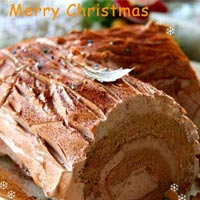 Tự làm bánh khúc cây đón Giáng sinh