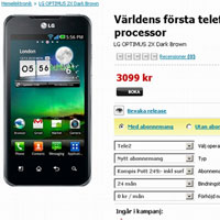 Công bố giá LG Optimus 2X