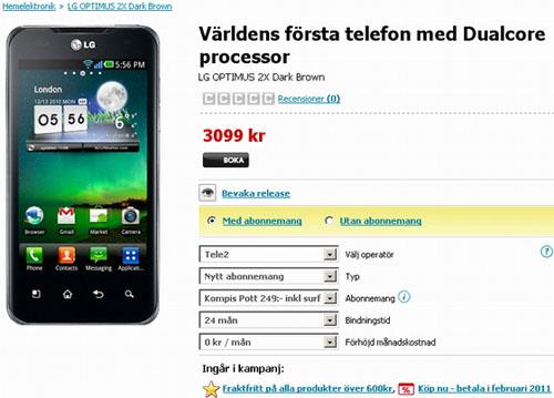 Công bố giá LG Optimus 2X - 1